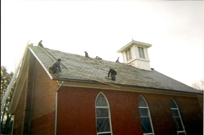 This church originally had a slate roof which needed to be removed.
