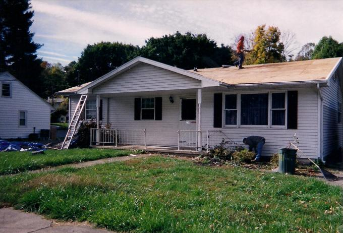 This home recieved a comlete renovation including new roof, siding, fascia, gutters, windows casings, and painting.